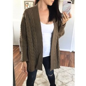 Sweaters - Karlee Chunky Knit Cardigan | Olive